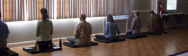 Meditation on Cushions and Benches